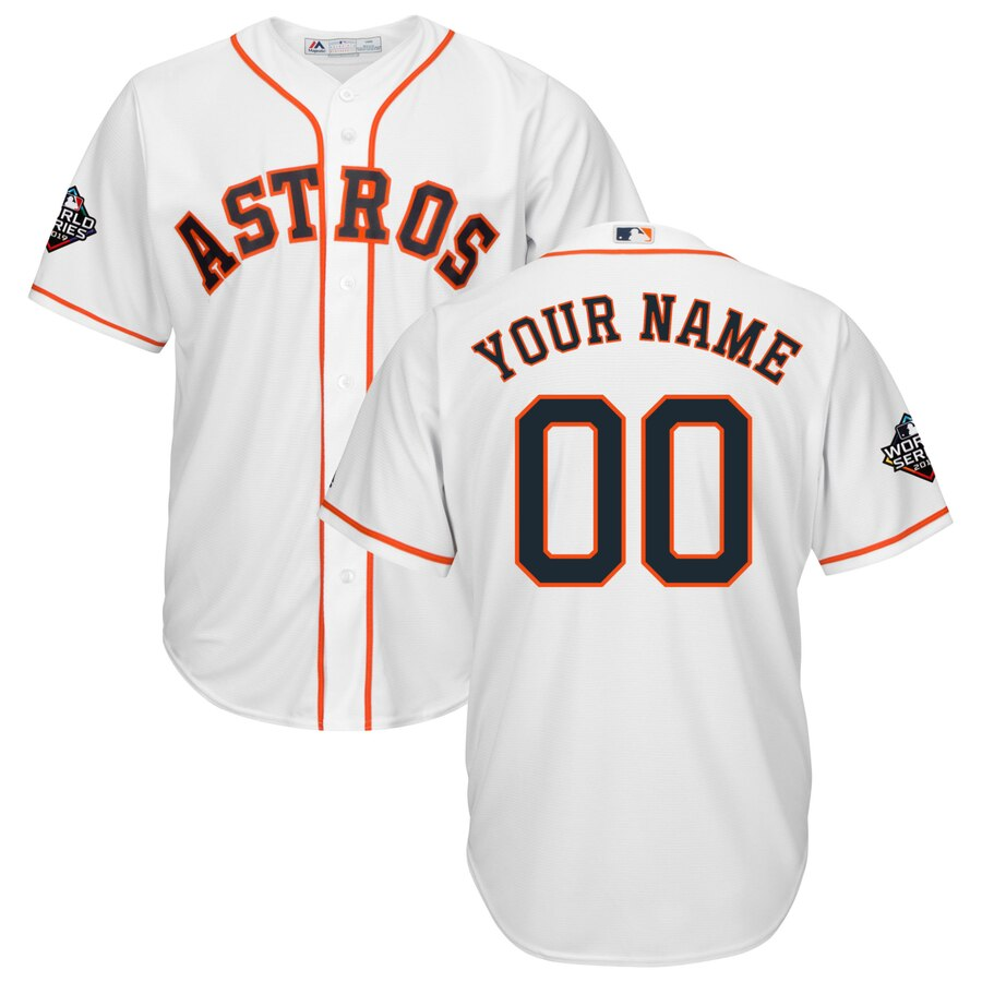 Houston Astros Majestic 2019 World Series Bound Official Cool Base Custom Jersey White