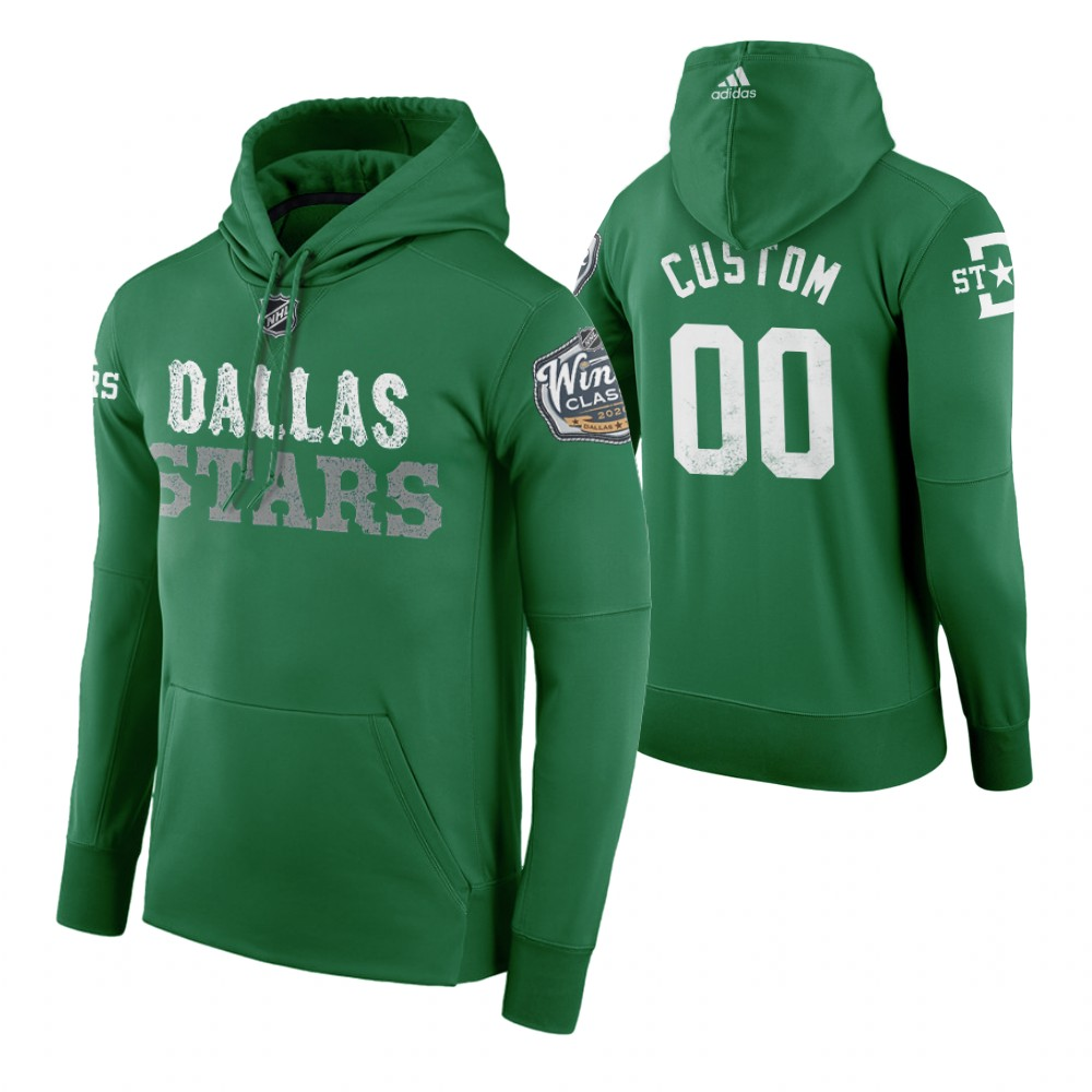 Adidas Stars Custom Men's Green 2020 Winter Classic Retro NHL Hoodie