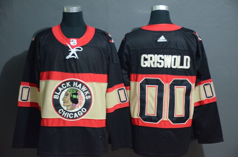 Adidas BlackHawks Custom Men's Black Classic Retro Stitched NHL Jersey