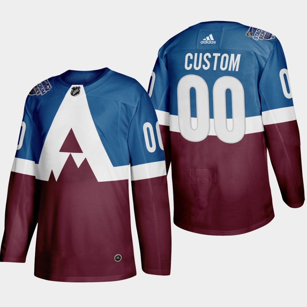 Adidas Colorado Avalanche Custom Men's 2020 Stadium Series Burgundy Stitched NHL Jersey