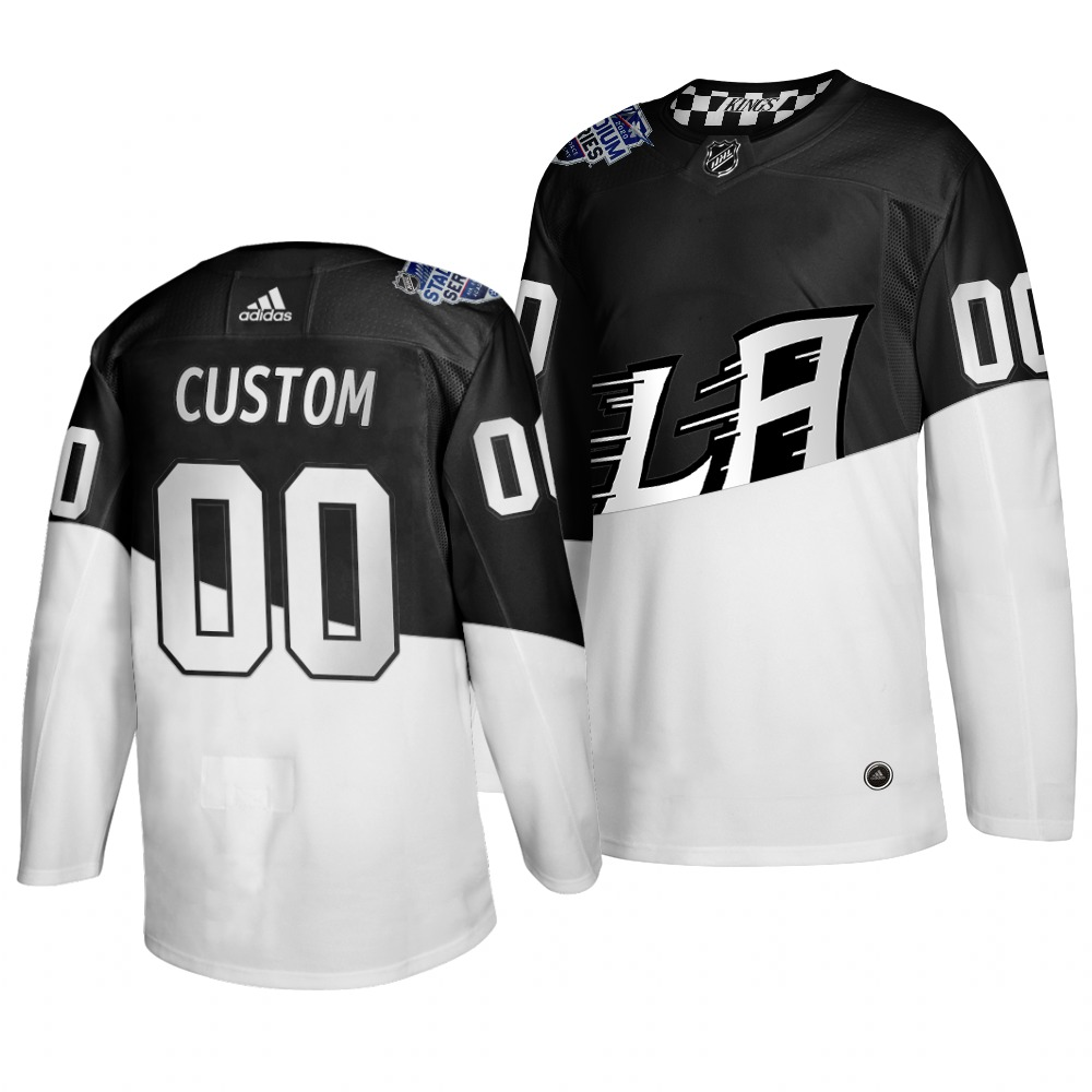 Adidas Los Angeles Kings Custom Men's 2020 Stadium Series White Black Stitched NHL Jersey