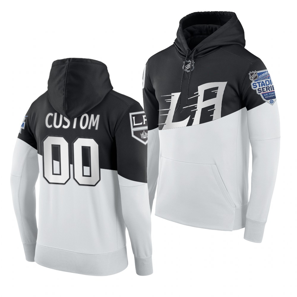 Adidas Los Angeles Kings Custom Men's 2020 Stadium Series White Black NHL Hoodie