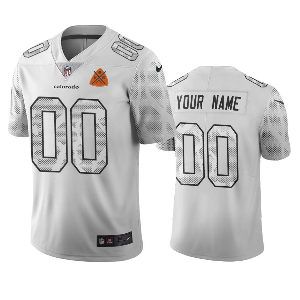 Denver Broncos Custom White Vapor Limited City Edition NFL Jersey