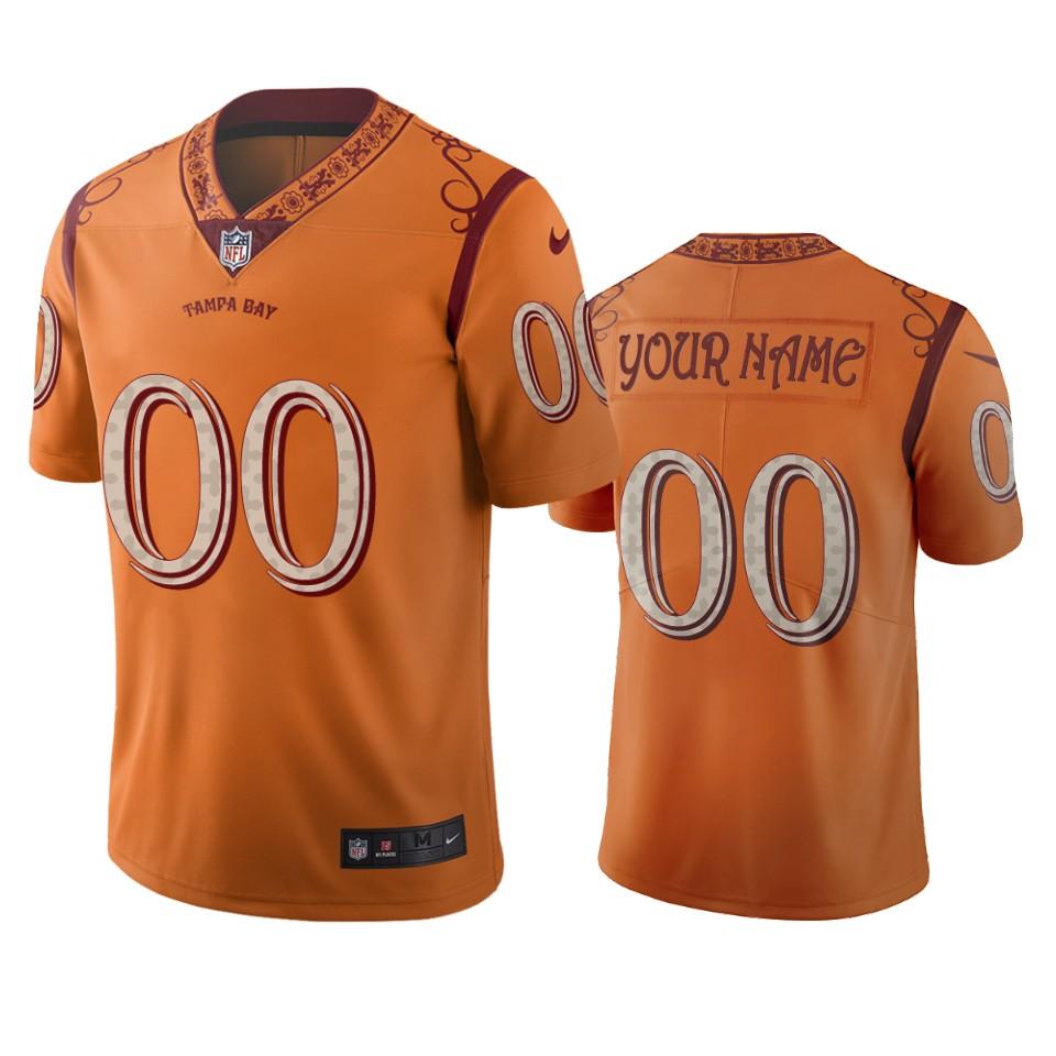 Tampa Bay Buccaneers Custom Orange Vapor Limited City Edition Jersey