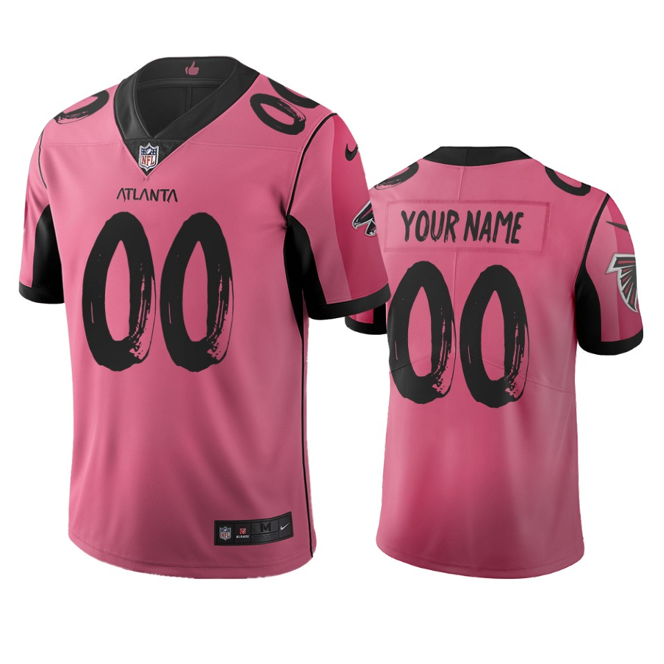 Atlanta Falcons Custom Pink Vapor Limited City Edition NFL Jersey