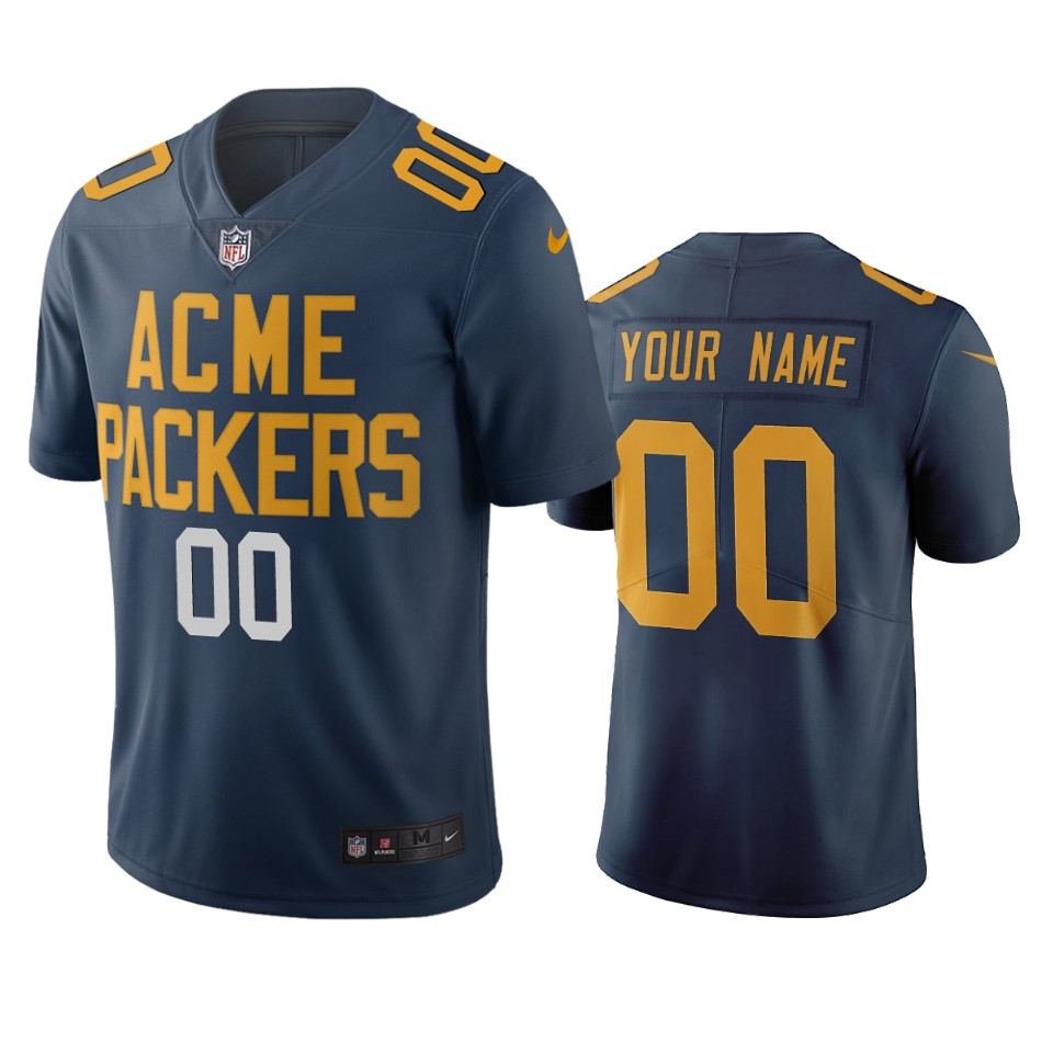 Green Bay Packers Custom Navy Vapor Limited City Edition NFL Jersey