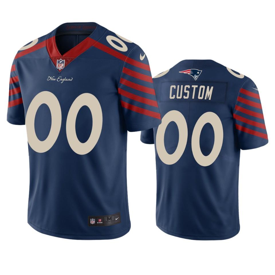 New England Patriots Custom Navy Vapor Limited City Edition NFL Jersey