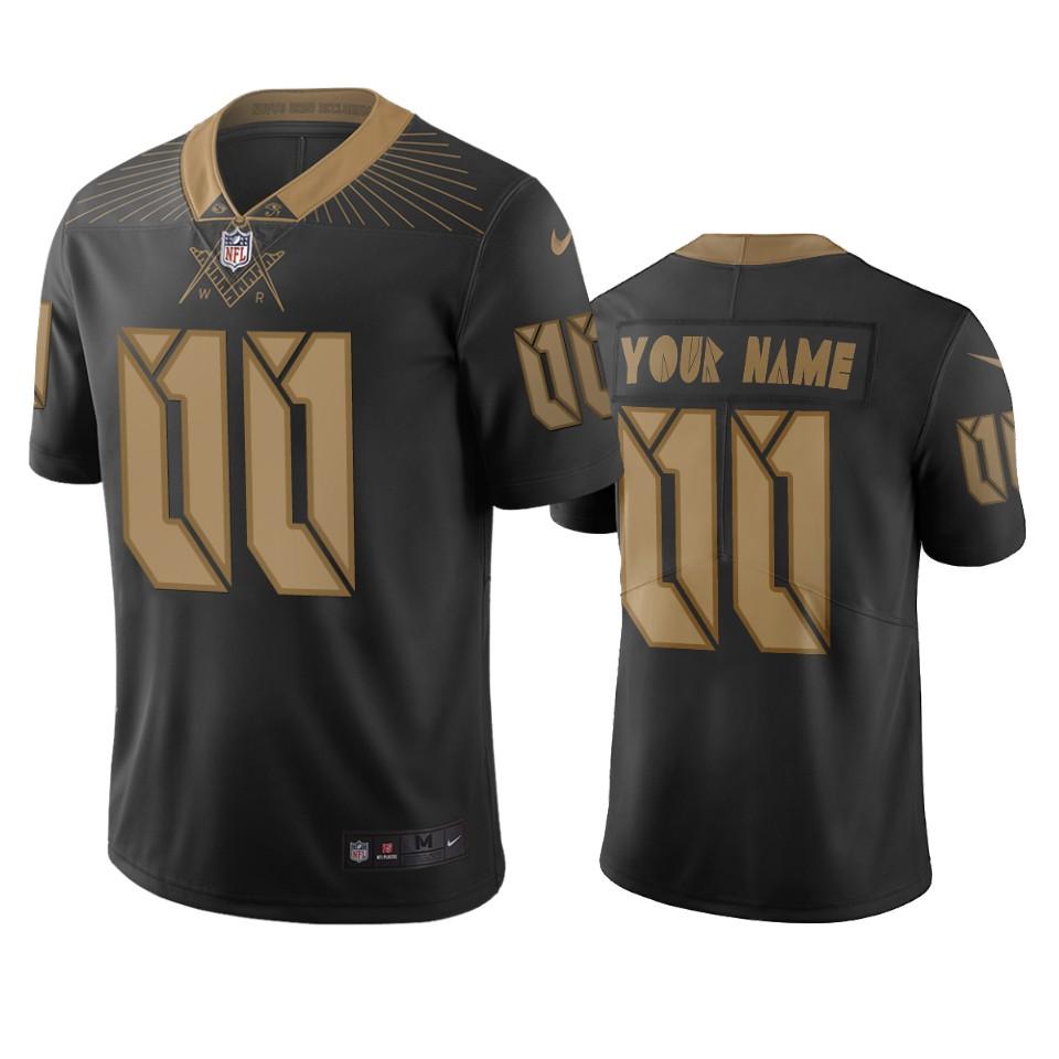 Washington Redskins Custom Black Vapor Limited City Edition NFL Jersey