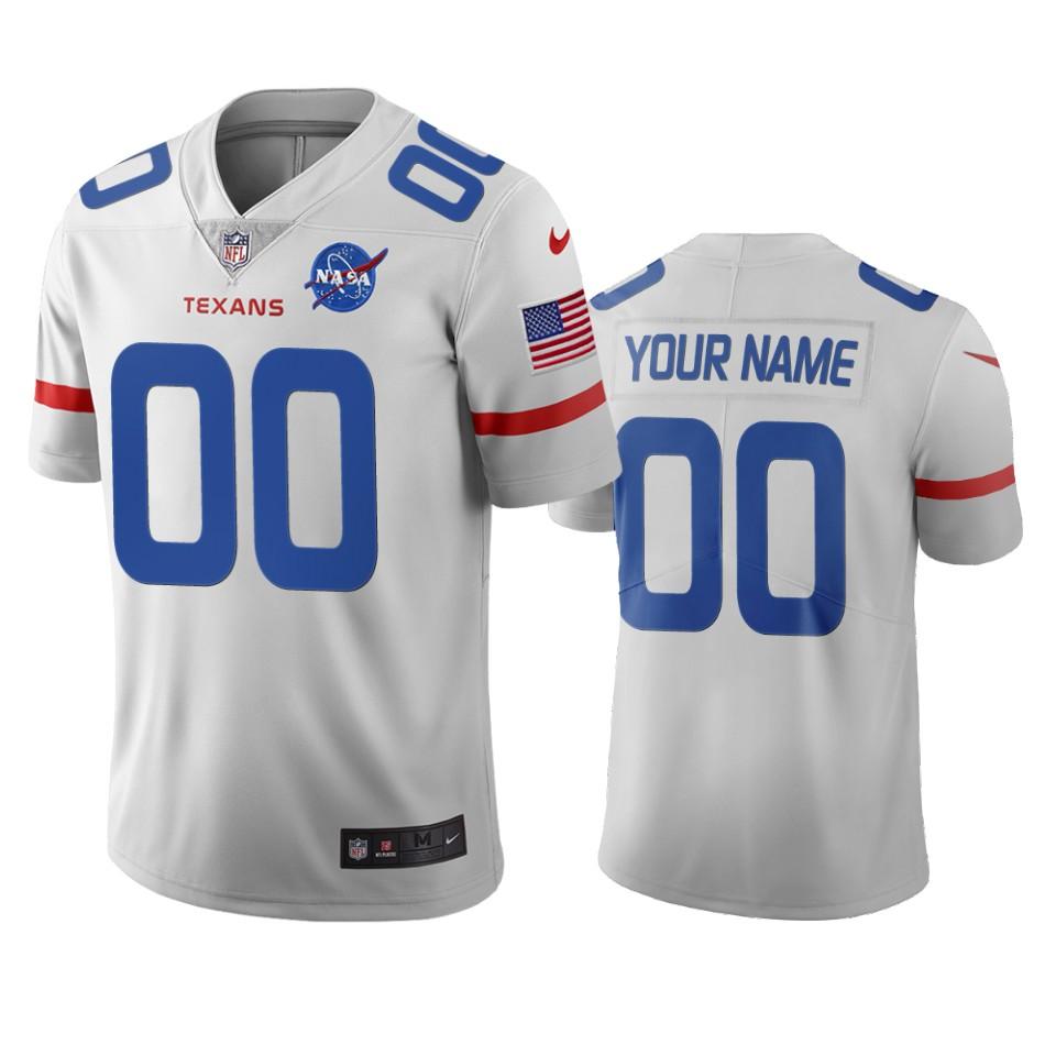 Houston Texans Custom White Vapor Limited City Edition NFL Jersey
