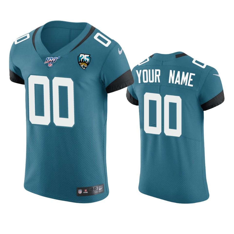 Jacksonville Jaguars Custom Teal 25th Season Vapor Elite Stitched NFL Jersey