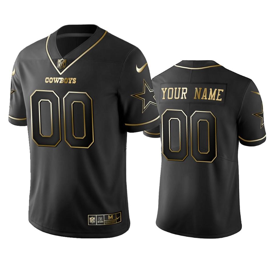 Nike Cowboys Custom Black Golden Limited Edition Stitched NFL Jersey