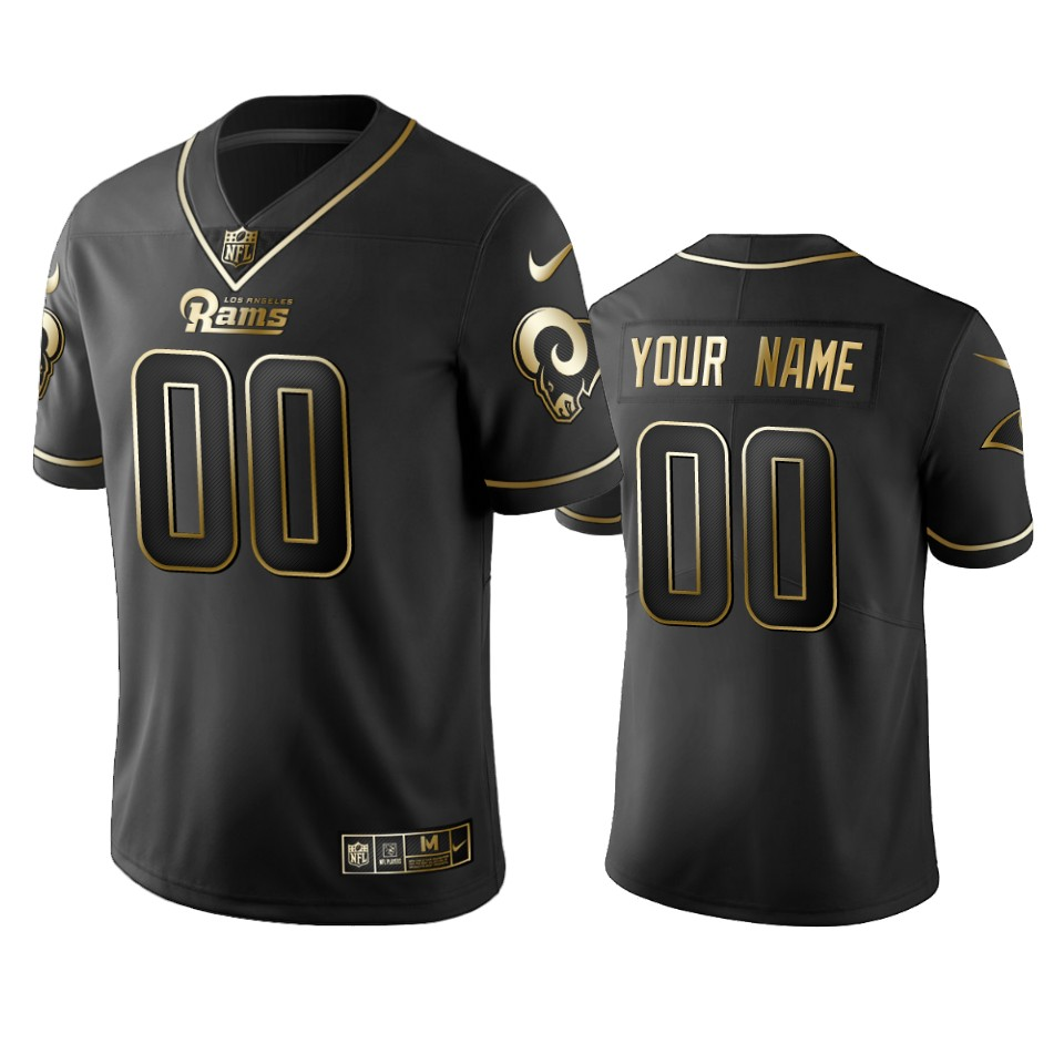 Nike Rams Custom Black Golden Limited Edition Stitched NFL Jersey