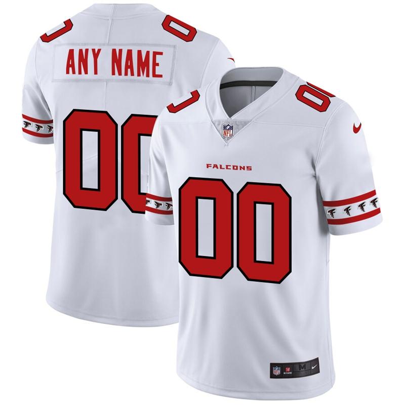 Atlanta Falcons Custom Nike White Team Logo Vapor Limited NFL Jersey