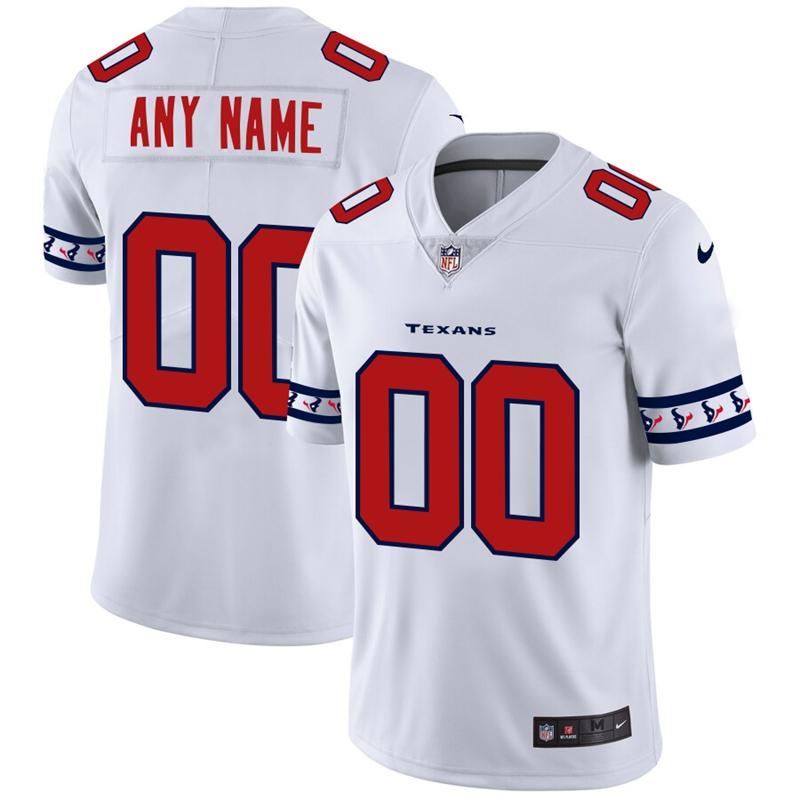 Houston Texans Custom Nike White Team Logo Vapor Limited NFL Jersey