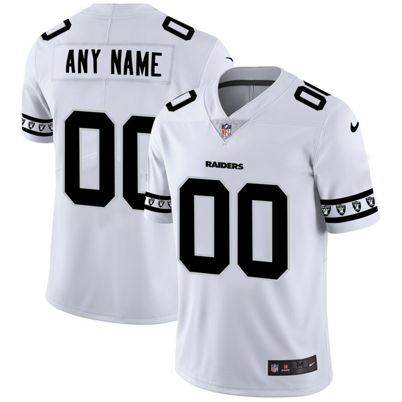 Oakland Raiders Custom Nike White Team Logo Vapor Limited NFL Jersey
