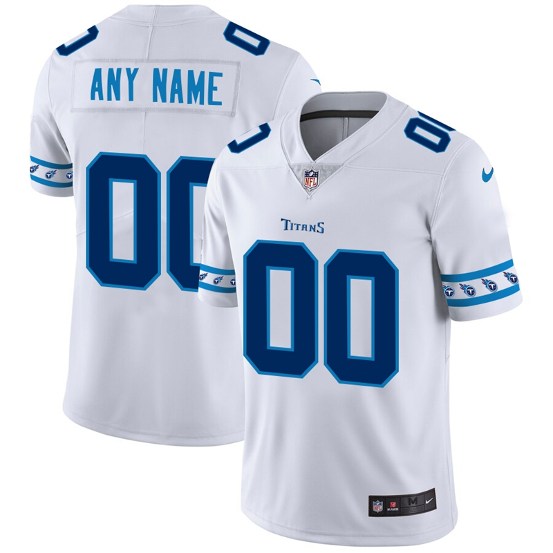 Tennessee Titans Custom Nike White Team Logo Vapor Limited NFL Jersey