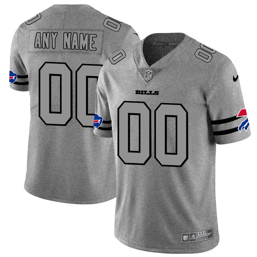 Buffalo Bills Custom Men's Nike Gray Gridiron II Vapor Untouchable Limited NFL Jersey
