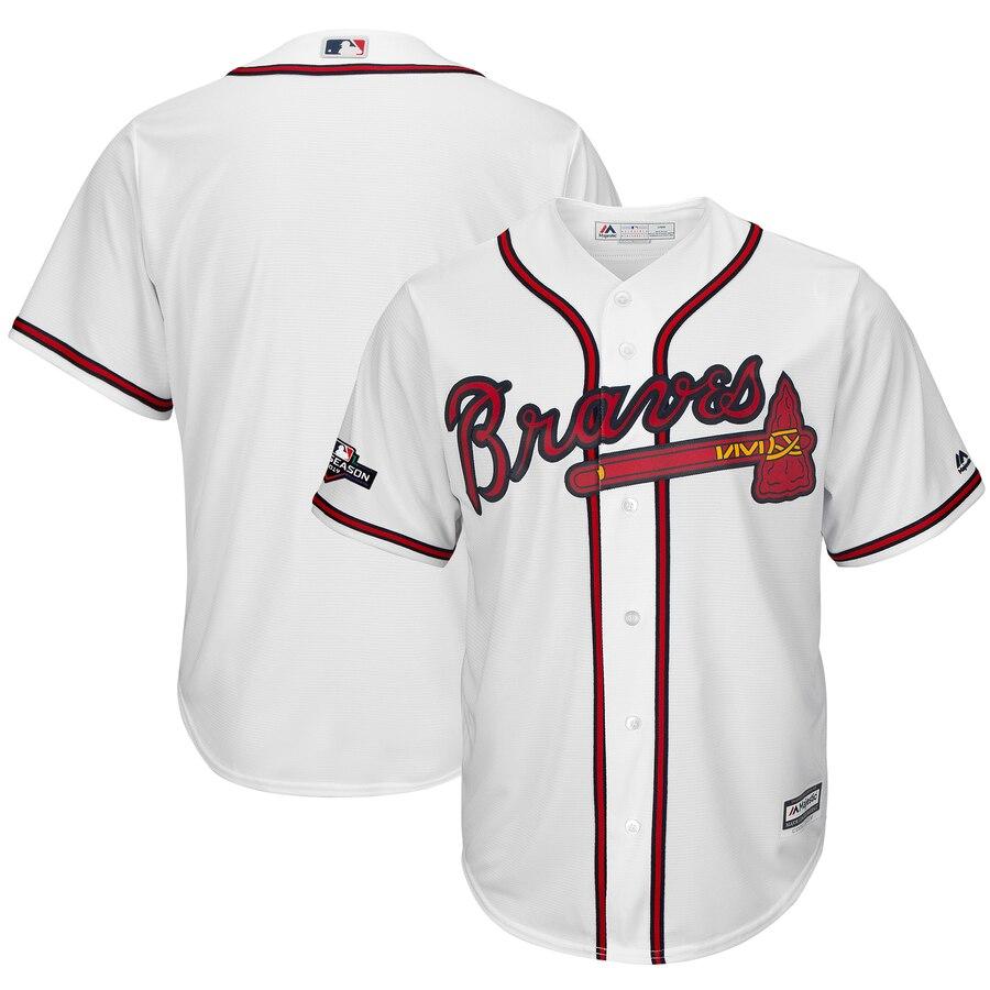 Atlanta Braves Majestic 2019 Postseason Official Cool Base Team Jersey White
