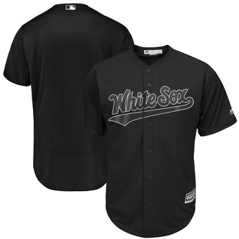 Chicago White Sox Blank Majestic 2019 Players' Weekend Cool Base Team Jersey Black