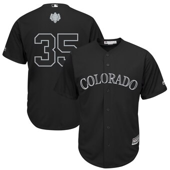 Colorado Rockies #35 Chad Bettis Majestic 2019 Players' Weekend Cool Base Player Jersey Black