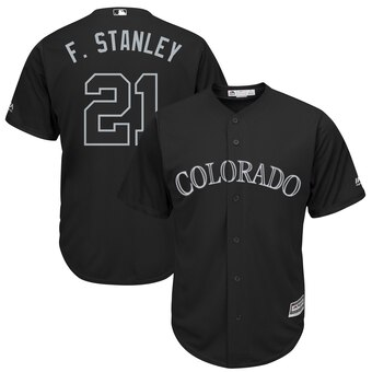 Colorado Rockies #21 Kyle Freeland F. Stanley Majestic 2019 Players' Weekend Cool Base Player Jersey Black