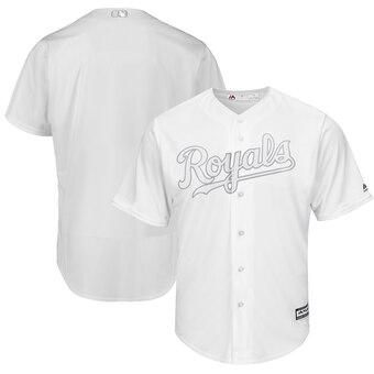 Kansas City Royals Blank Majestic 2019 Players' Weekend Cool Base Team Jersey White