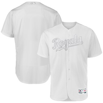 Kansas City Royals Blank Majestic 2019 Players' Weekend Flex Base Authentic Team Jersey White