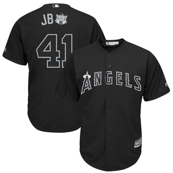 Los Angeles Angels #41 Justin Bour Majestic 2019 Players' Weekend Cool Base Player Jersey Black