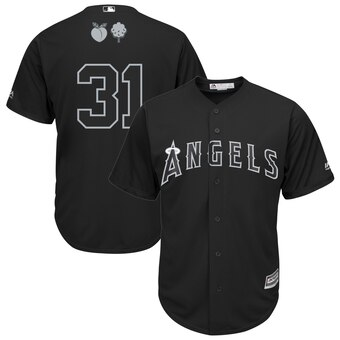 Los Angeles Angels #31 Ty Buttery Majestic 2019 Players' Weekend Cool Base Player Jersey Black