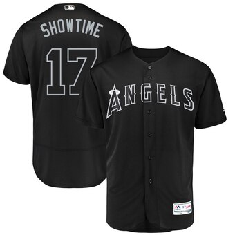Los Angeles Angels #17 Shohei Ohtani Showtime Majestic 2019 Players' Weekend Flex Base Authentic Player Jersey Black