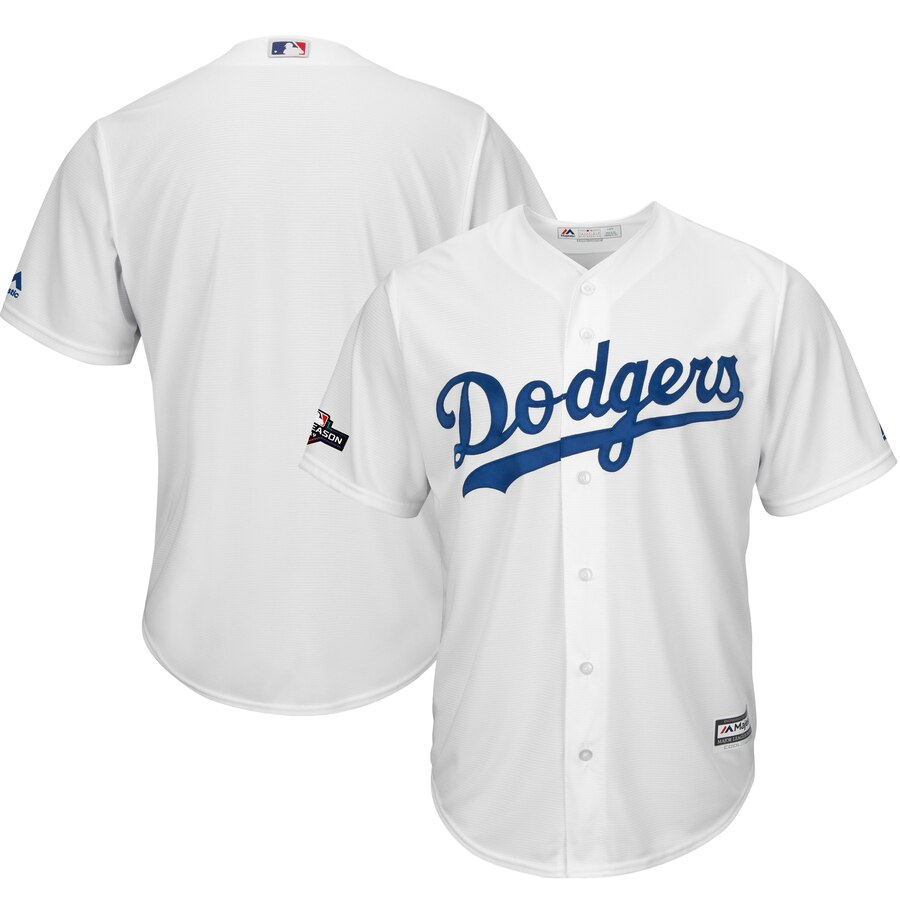 Los Angeles Dodgers Majestic 2019 Postseason Home Official Cool Base Player Jersey White