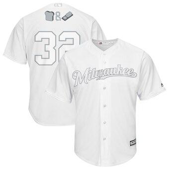 Milwaukee Brewers #32 Jeremy Jeffress Majestic 2019 Players' Weekend Cool Base Player Jersey White
