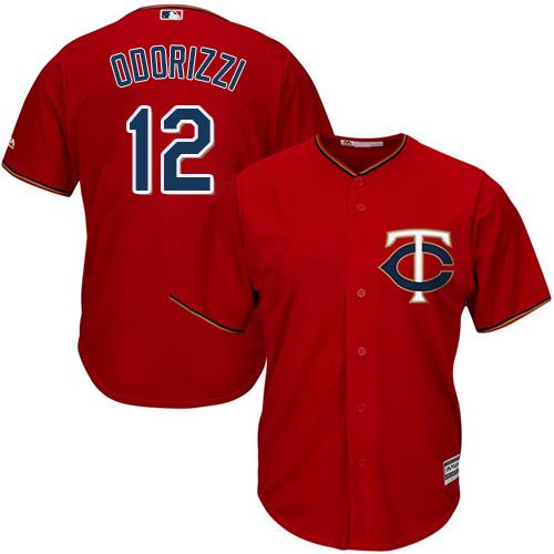 Twins #12 Jake Odorizzi Red Cool Base Stitched MLB Jersey