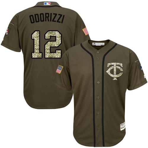 Twins #12 Jake Odorizzi Green Salute to Service Stitched MLB Jersey