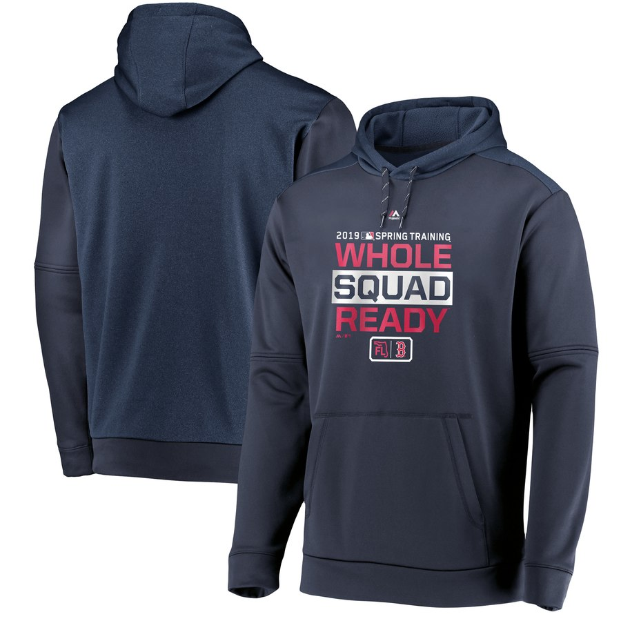 Boston Red Sox Majestic 2019 Spring Training Authentic Collection Pullover Hoodie Navy