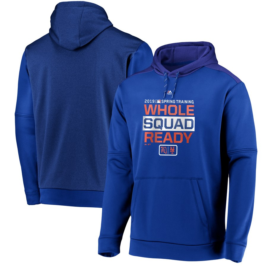 New York Mets Majestic 2019 Spring Training Authentic Collection Pullover Hoodie Royal