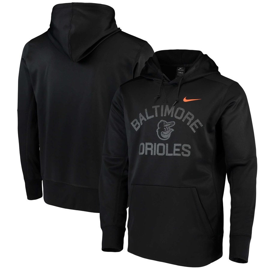 Baltimore Orioles Nike Therma Pullover Hoodie Black