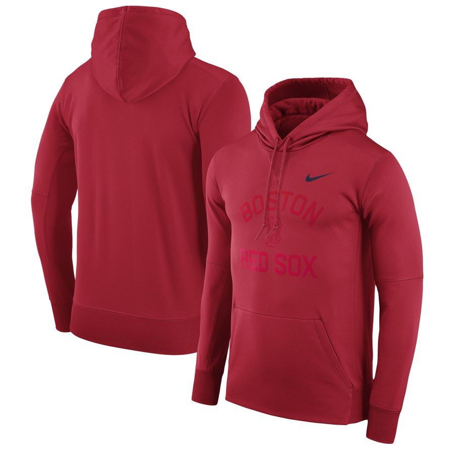 Boston Red Sox Nike Therma Pullover Hoodie Red