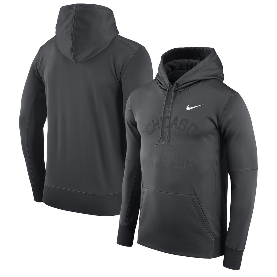 Chicago White Sox Nike Therma Pullover Hoodie Black
