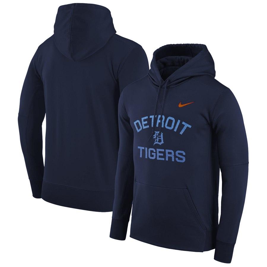Detroit Tigers Nike Therma Pullover Hoodie Navy