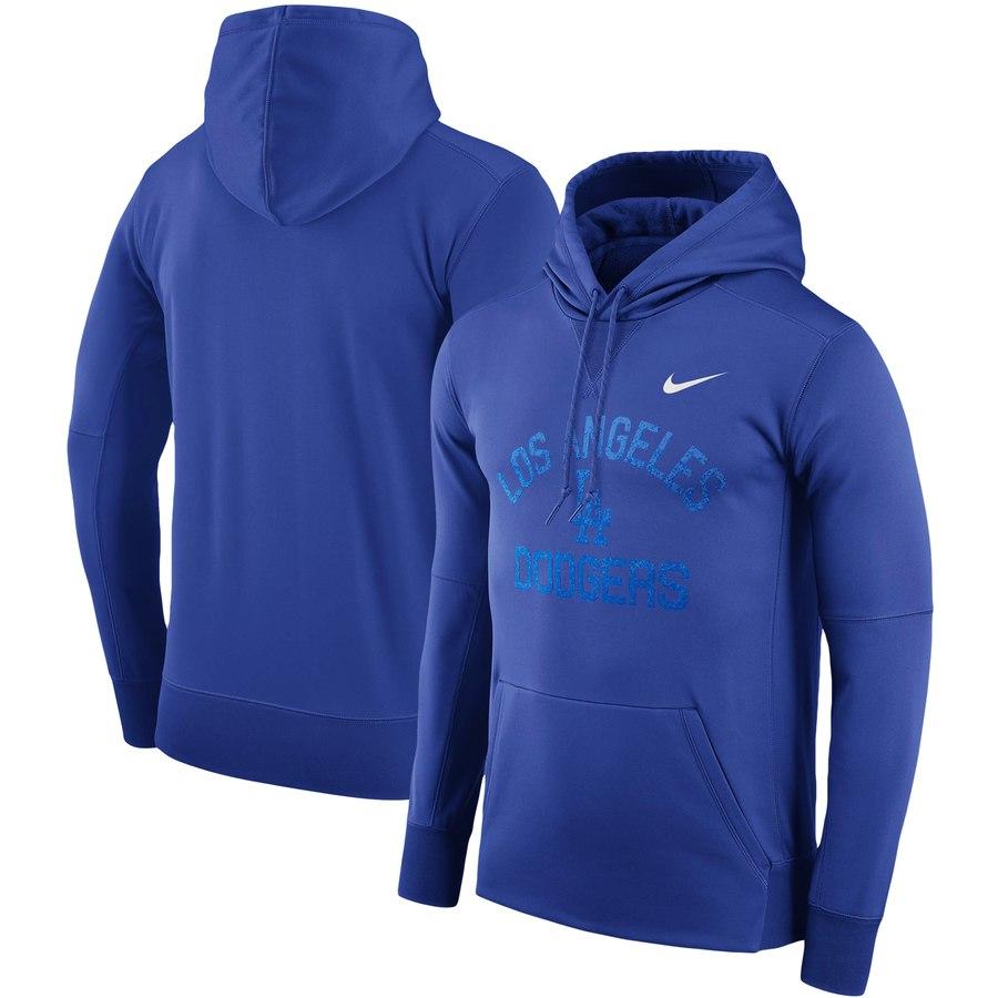 Los Angeles Dodgers Nike Therma Pullover Hoodie Royal