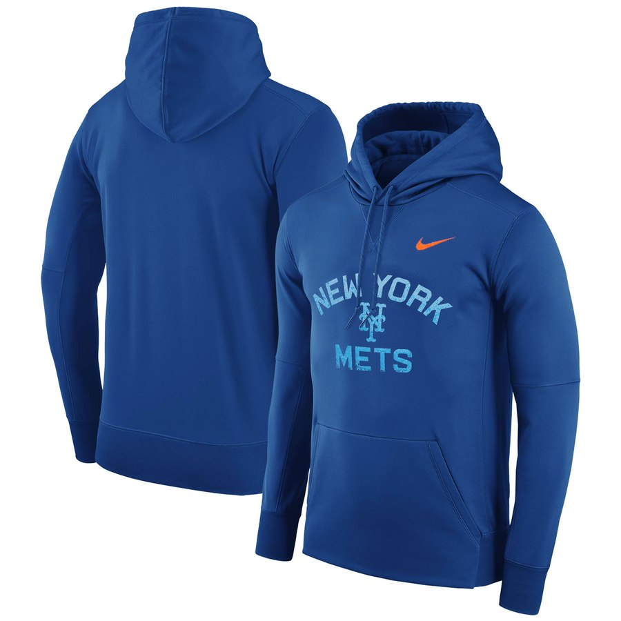 New York Mets Nike Therma Pullover Hoodie Royal