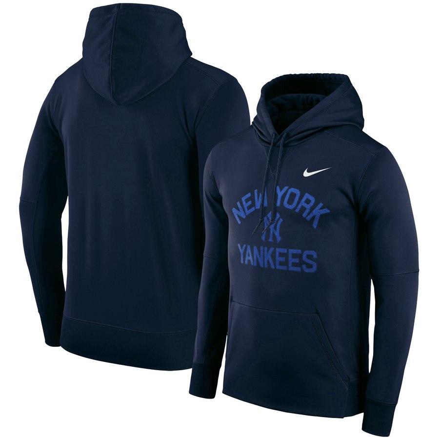 New York Yankees Nike Therma Pullover Performance Hoodie Navy