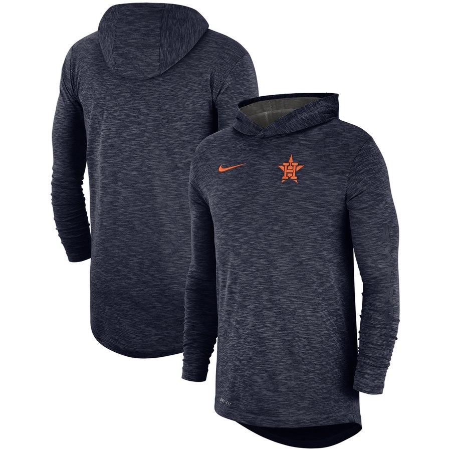 Houston Astros Nike Performance Slub Pullover Hoodie Navy