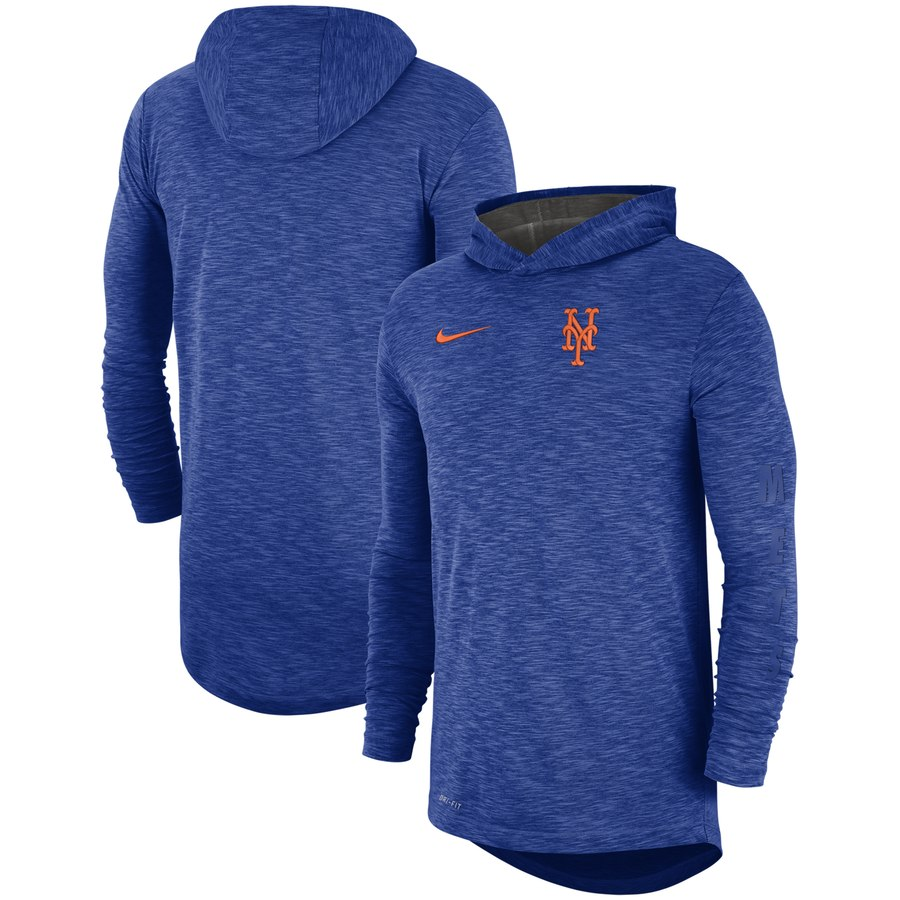 New York Mets Nike Performance Slub Pullover Hoodie Royal