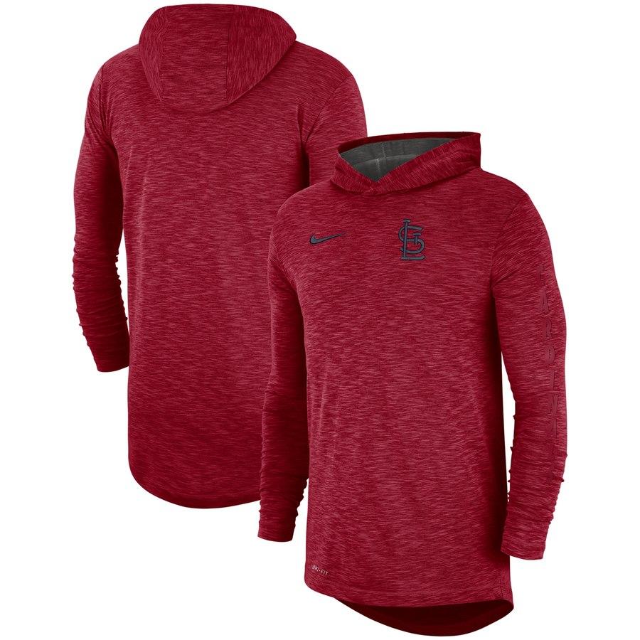 St. Louis Cardinals Nike Performance Slub Pullover Hoodie Red