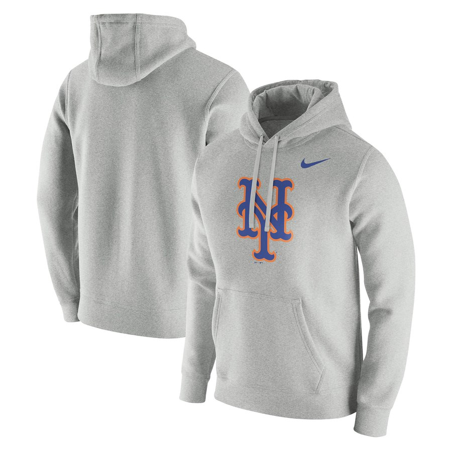 New York Mets Nike Franchise Hoodie Gray