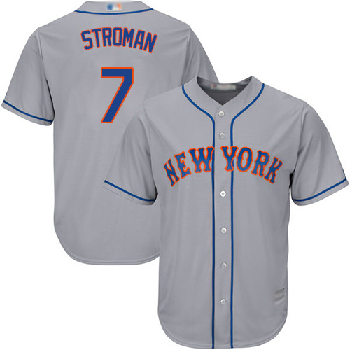 Mets #7 Marcus Stroman Grey New Cool Base Stitched MLB Jersey
