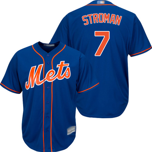 Mets #7 Marcus Stroman Blue New Cool Base Stitched MLB Jersey