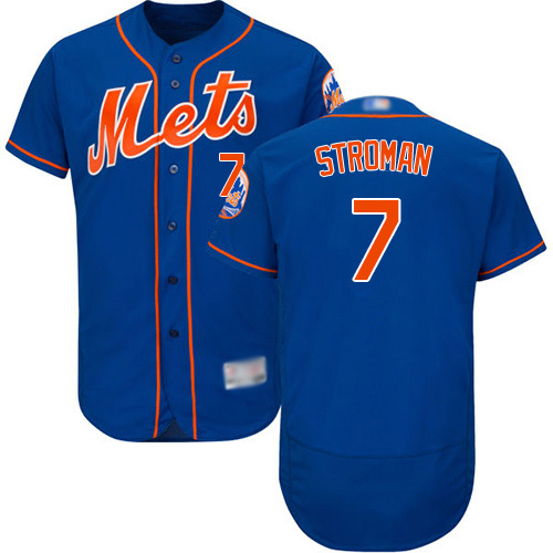 Mets #7 Marcus Stroman Blue Flexbase Authentic Collection Stitched MLB Jersey